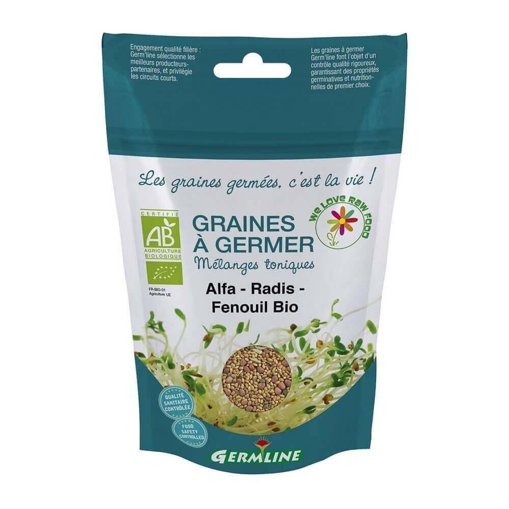 Graines à germer Alfalfa - Radis - Fenouil