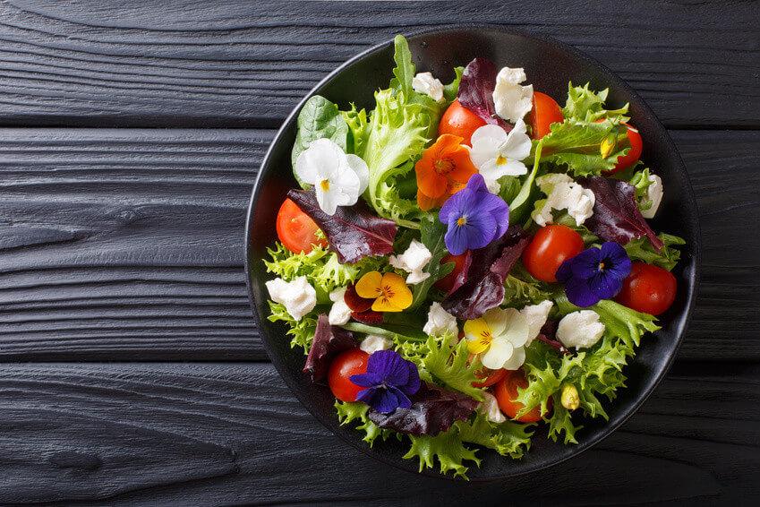 Conseil de Bastien : mes plats à base de fleurs comestibles