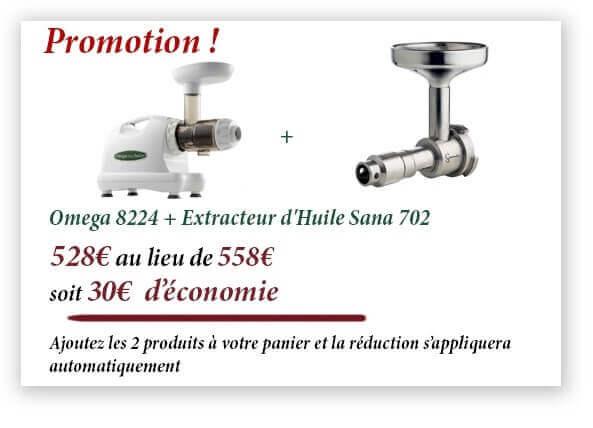 omega 8224 extracteur de jus blanc livraison 24h. Black Bedroom Furniture Sets. Home Design Ideas